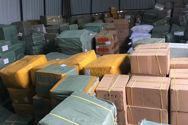 Major raid on Sharjah warehouse of designer brands in the fashion , cosmetics and perfumes.