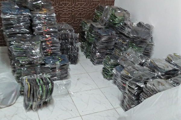 Factory in Egypt manufacturing counterfeit branded shoes raided by TLG and Authorites.