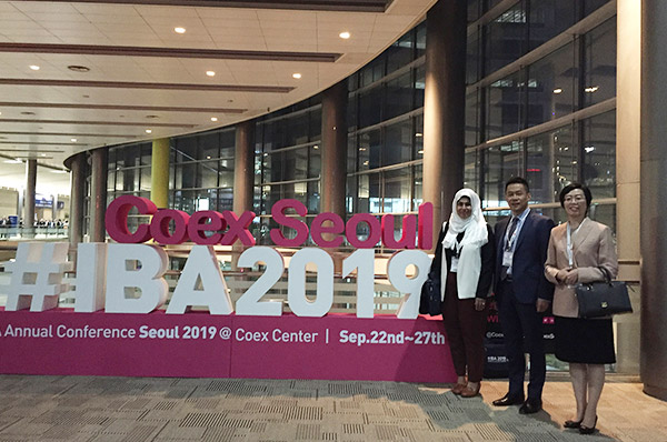 TLG attends the IBA Annual Conference 2019 in Seoul, South Korea