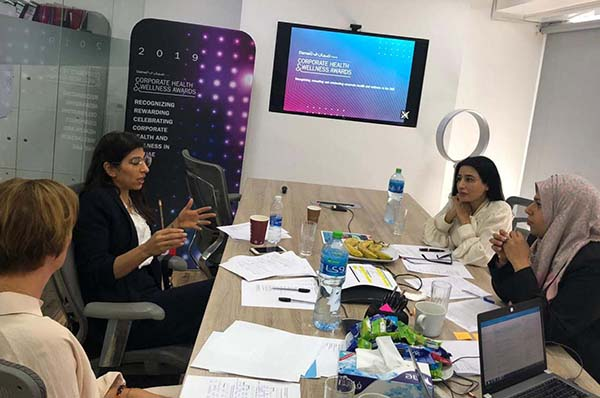 TLG conducts a judging session for the Daman Corporate Health and Wellness Awards