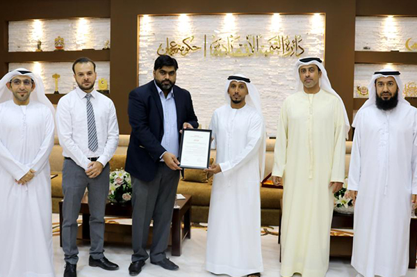 TLG honors the Control and Consumer Protection Department in the Economic Department in Ajman